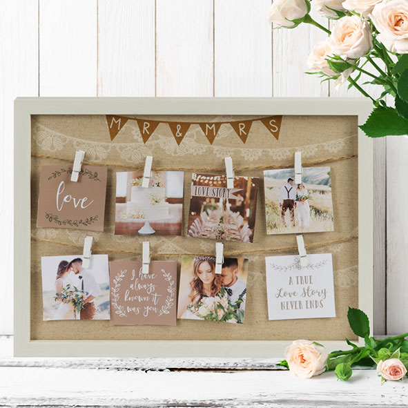 Personalised Hen Party Mr And Mrs Game In 2019: Mr And Mrs Collage Frame
